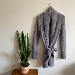 Wilfred Aritzia Grey Wool Cardigan